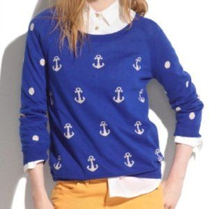 Madewell lightweight blue nautical anchor dots M